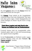 Plakat Vegane Mensa Wuerzburg